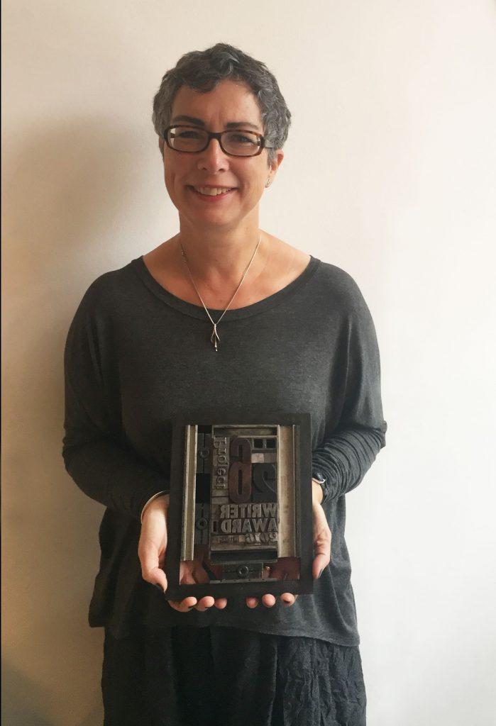 SJ Butler with 26 Writer's award 2016 (c) Elise Valmorbida
